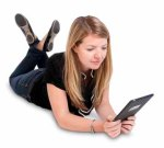 eBook reader with girl_360